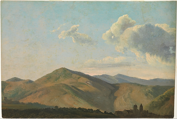 Mountainous Landscape at Vicovaro, Simon Denis (Flemish, Antwerp 1755–1813 Naples), Oil on paper