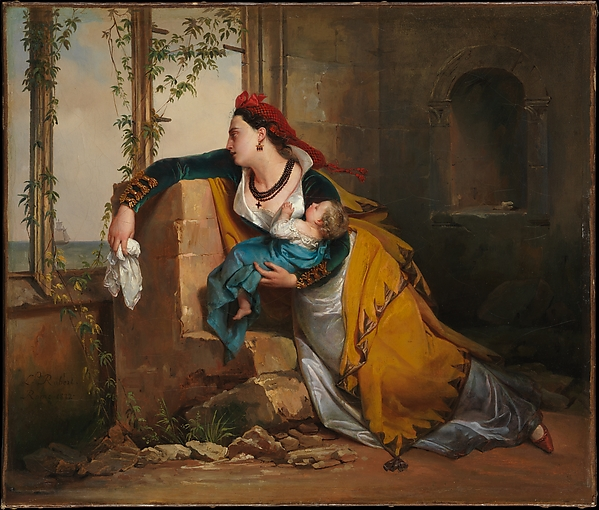The Mariner's Wife, Attributed to Jean-Augustin Franquelin (French, Paris 1798–1839 Paris), Oil on canvas