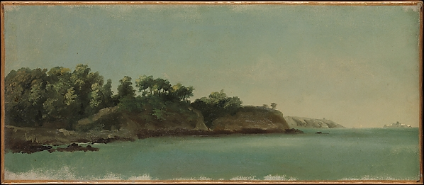 The Banks of the Rance, Brittany, Pierre Henri de Valenciennes (French, Toulouse 1750–1819 Paris), Oil on paper, laid down on canvas