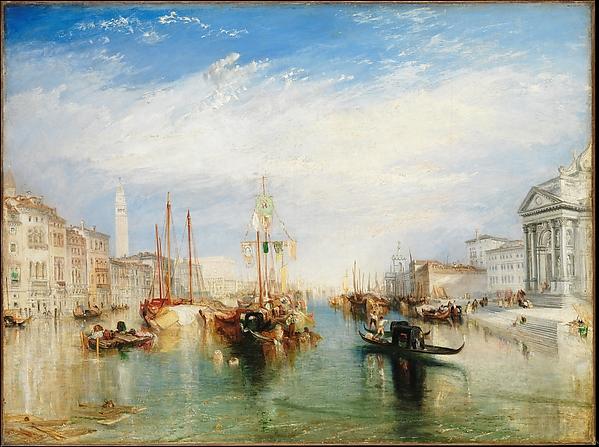 Venice, from the Porch of Madonna della Salute, Joseph Mallord William Turner (British, London 1775–1851 London), Oil on canvas