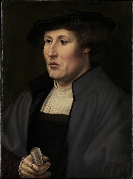 Portrait of a Man, Jan Gossart (called Mabuse) (Netherlandish, Maubeuge ca. 1478–1532 Antwerp (?)), Oil on wood