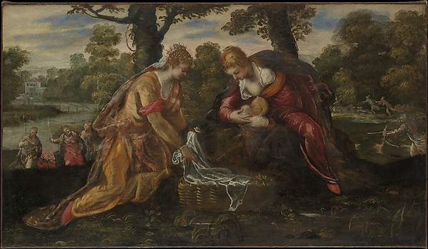 The Finding of Moses, Jacopo Tintoretto (Jacopo Robusti) (Italian, Venice 1518/19–1594 Venice), Oil on canvas