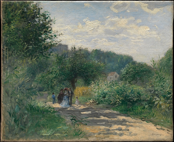 A Road in Louveciennes, Auguste Renoir (French, Limoges 1841–1919 Cagnes-sur-Mer), Oil on canvas