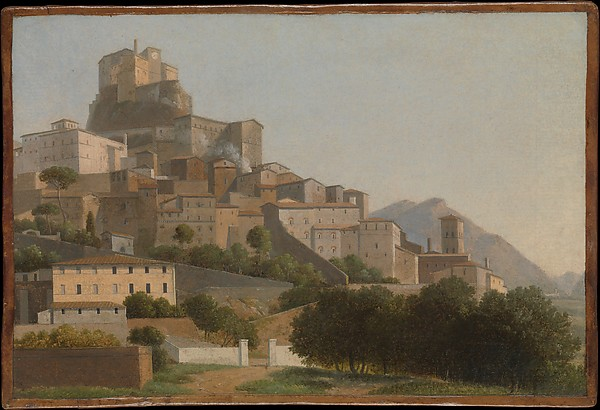 Subiaco, Attributed to Alexandre Hyacinthe Dunouy (French, Paris 1757–1841 Jouy-en-Josas), Oil on paper, laid down on canvas