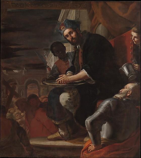 Pilate Washing His Hands, Mattia Preti (Il Cavalier Calabrese) (Italian, Taverna 1613–1699 Valletta), Oil on canvas