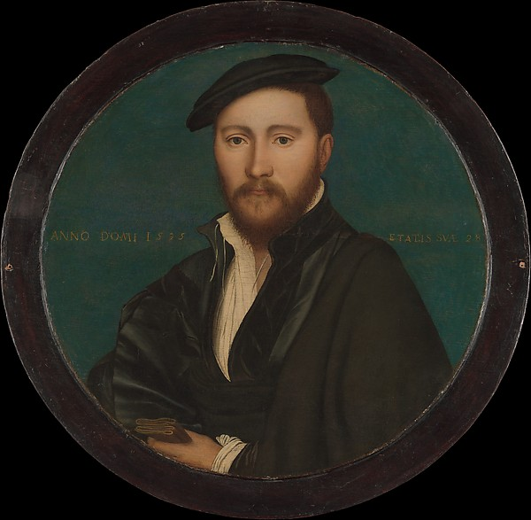 Portrait of a Man (Sir Ralph Sadler?), Workshop of Hans Holbein the Younger (German, Augsburg 1497/98–1543 London), Oil and gold on oak