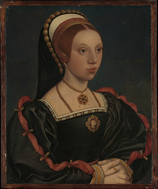 Portrait of a Young Woman, Workshop of Hans Holbein the Younger (German, Augsburg 1497/98–1543 London), Oil and gold on oak
