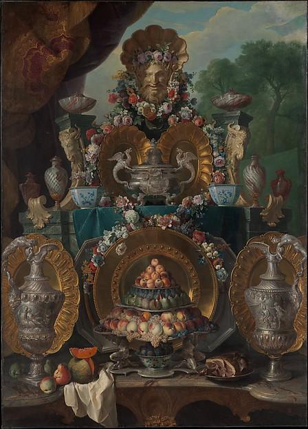 Still Life with Silver, Alexandre François Desportes (French, Champigneulle 1661–1743 Paris), Oil on canvas