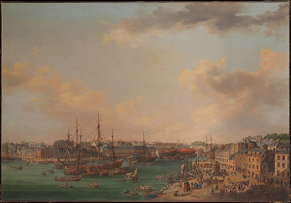 The Outer Harbor of Brest, Henri Joseph van Blarenberghe (French, Lille 1750–1826 Lille), Oil on canvas