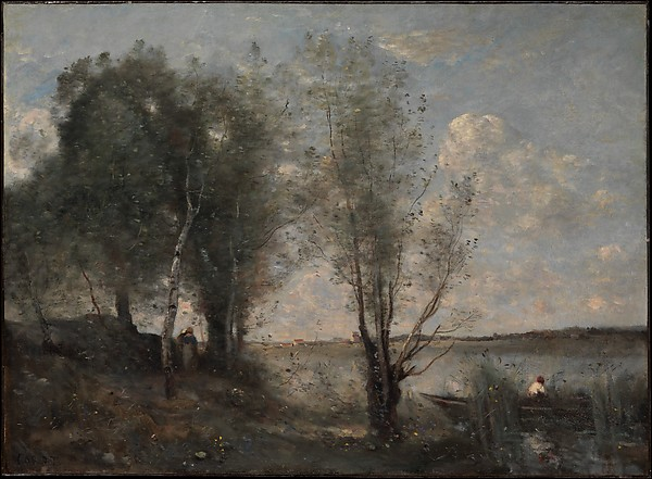 Boatman among the Reeds, Camille Corot (French, Paris 1796–1875 Paris), Oil on canvas