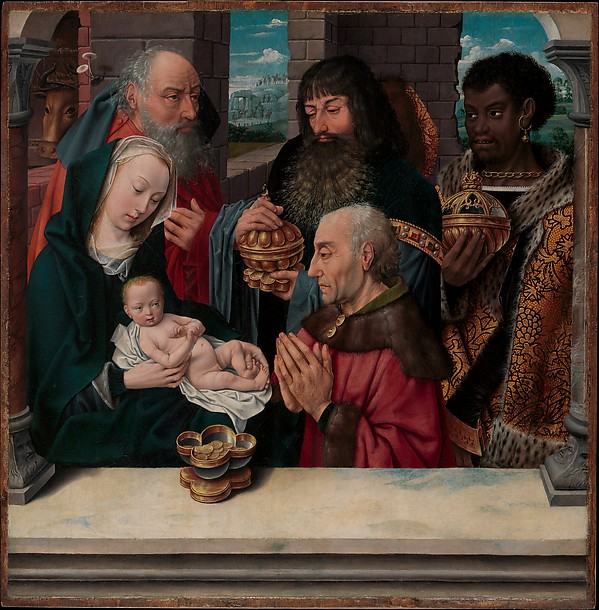 The Adoration of the Magi, Copy after Hugo van der Goes (Netherlandish, late 15th century), Oil on wood