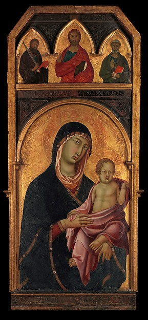 Madonna and Child, Segna di Buonaventura (Italian, active Siena by 1298–died 1326/31), Tempera on wood, gold ground