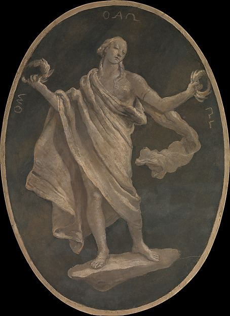 A Virtue, Possibly Patriotism, Workshop of Giovanni Battista Tiepolo (Italian, Venice 1696–1770 Madrid), Fresco, transferred to canvas