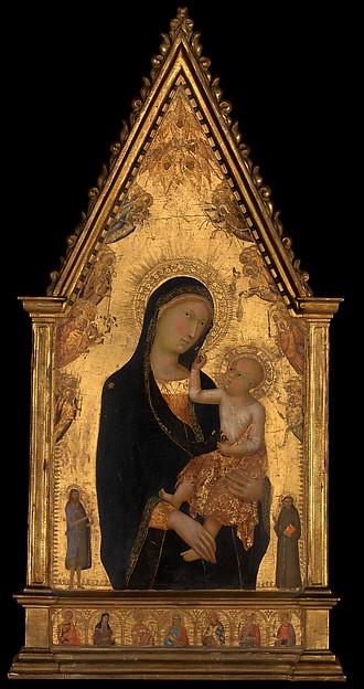 Lippo Memmi Filippo Di Memmo Madonna And Child With Saints And