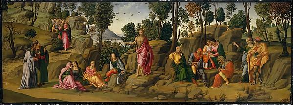 Saint John the Baptist Bearing Witness, Workshop of Francesco Granacci (Italian, Villamagna 1469–1543 Florence), Oil and gold on wood