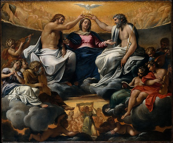 The Coronation of the Virgin, Annibale Carracci (Italian, Bologna 1560–1609 Rome), Oil on canvas