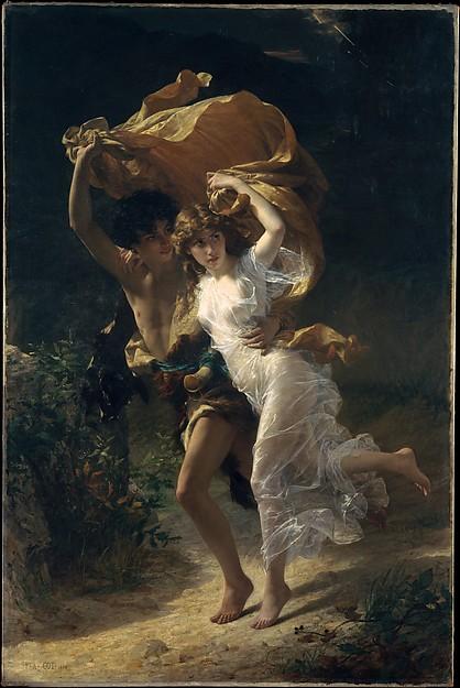 The Storm, Pierre-Auguste Cot (French, Bédarieux 1837–1883 Paris), Oil on canvas