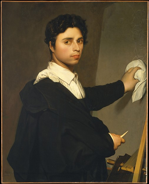 Ingres (1780–1867) as a Young Man, ? Madame Gustave Héquet (French, active ca. 1845–65), Oil on canvas