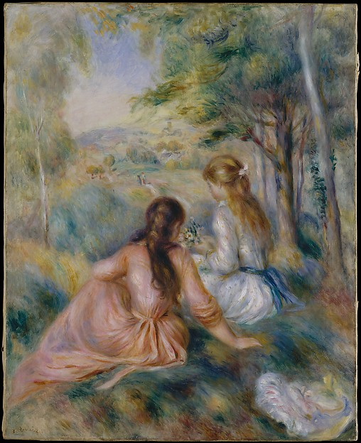 In the Meadow, Auguste Renoir (French, Limoges 1841–1919 Cagnes-sur-Mer), Oil on canvas