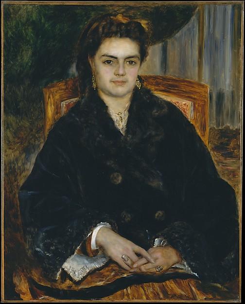 Madame Édouard Bernier (Marie-Octavie-Stéphanie Laurens, 1838–1920), Auguste Renoir (French, Limoges 1841–1919 Cagnes-sur-Mer), Oil on canvas