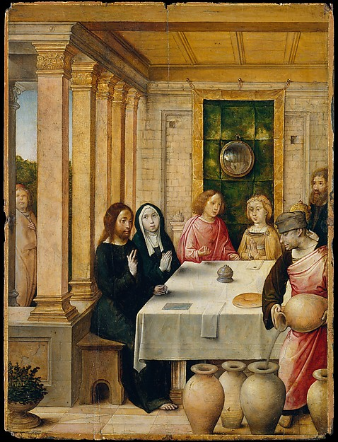 The Marriage Feast at Cana, Juan de Flandes (Netherlandish, active by 1496–died 1519 Palencia), Oil on wood
