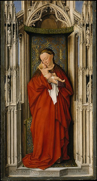 Virgin and Child in a Niche, Netherlandish Painter (ca. 1500), Oil on wood