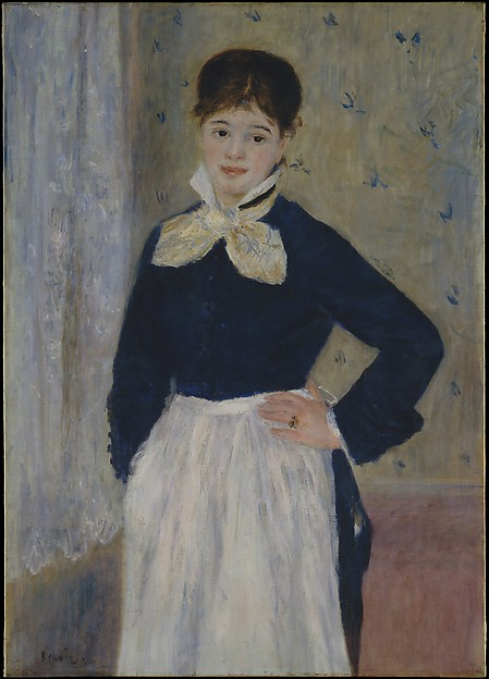A Waitress at Duval's Restaurant, Auguste Renoir (French, Limoges 1841–1919 Cagnes-sur-Mer), Oil on canvas
