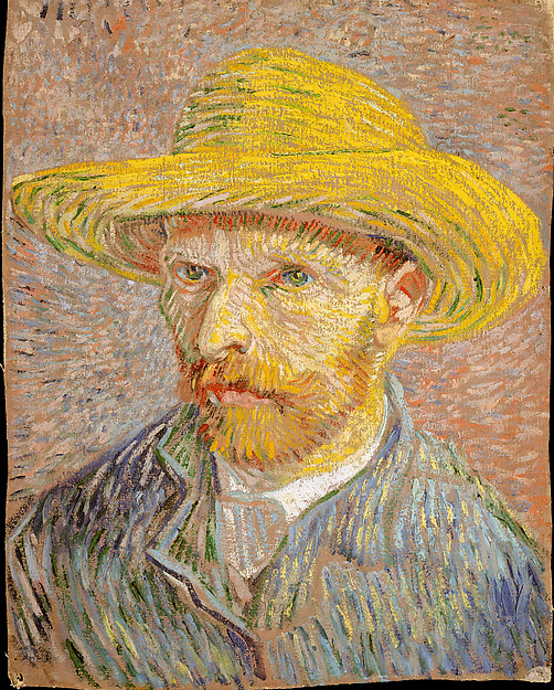 Vincent van Gogh | Self-Portrait with a Straw Hat (obverse: The ...