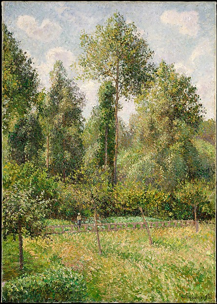Poplars, Éragny, Camille Pissarro (French, Charlotte Amalie, Saint Thomas 1830–1903 Paris), Oil on canvas