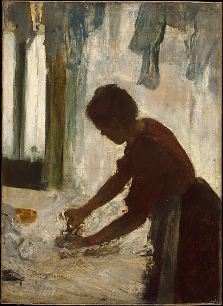 A Woman Ironing, Edgar Degas (French, Paris 1834–1917 Paris), Oil on canvas