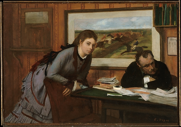 Sulking, Edgar Degas (French, Paris 1834–1917 Paris), Oil on canvas