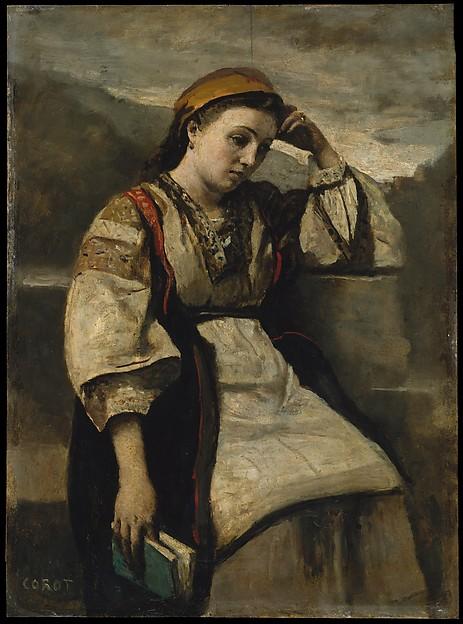 Reverie, Camille Corot (French, Paris 1796–1875 Paris), Oil on wood
