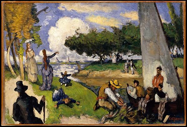 The Fishermen (Fantastic Scene), Paul Cézanne (French, Aix-en-Provence 1839–1906 Aix-en-Provence), Oil on canvas