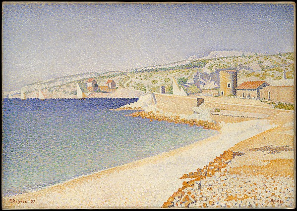The Jetty at Cassis, Opus 198, Paul Signac (French, Paris 1863–1935 Paris), Oil on canvas