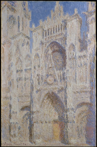 Rouen Cathedral: The Portal (Sunlight), Claude Monet (French, Paris 1840–1926 Giverny), Oil on canvas