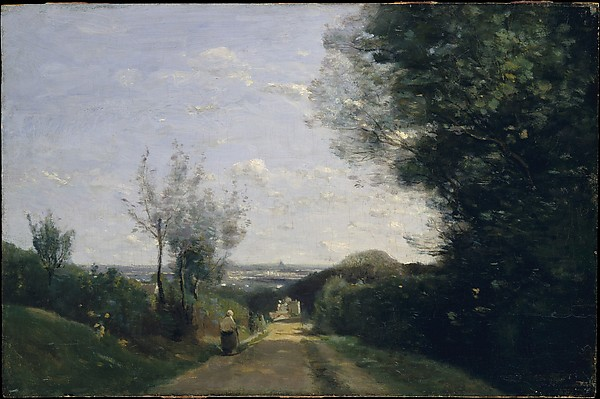 The Environs of Paris, Camille Corot (French, Paris 1796–1875 Paris), Oil on wood
