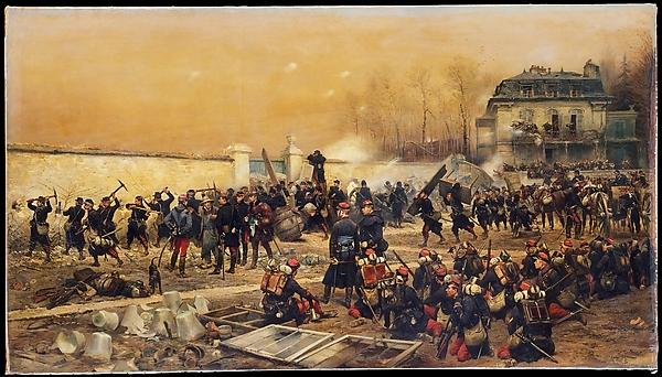 The Defense of Champigny, Édouard Detaille (French, Paris 1848–1912 Paris), Oil on canvas