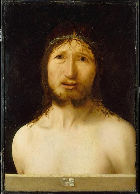 Christ Crowned with Thorns, Antonello da Messina (Antonello di Giovanni d'Antonio) (Italian, Messina ca. 1430–1479 Messina), Oil, possibly over tempera, on wood