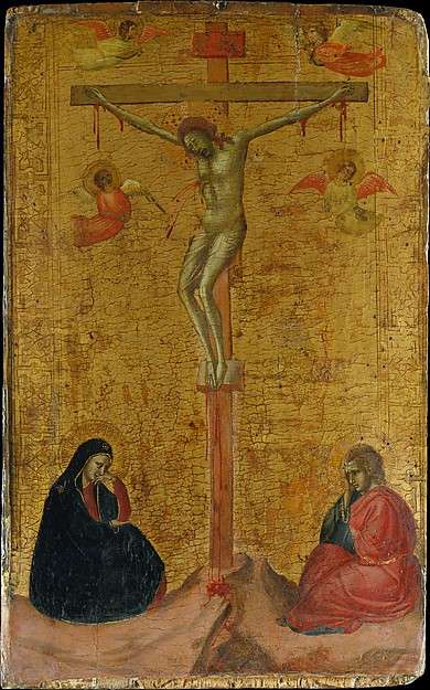 The Crucifixion, Bernardo Daddi (Italian, Florence (?) ca. 1290–1348 Florence), Tempera on wood, gold ground