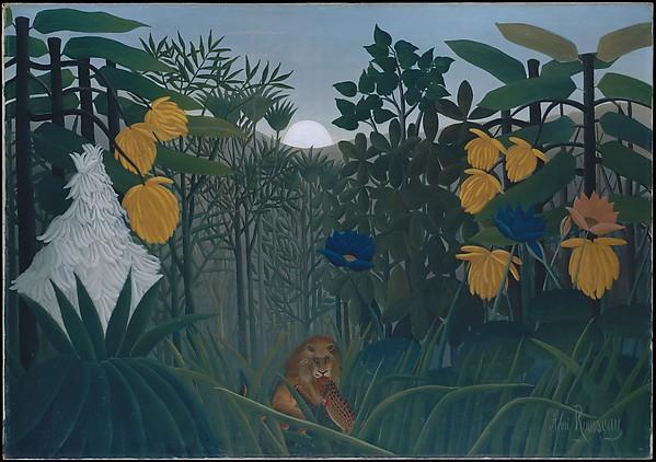 The Repast of the Lion, Henri Rousseau (le Douanier) (French, Laval 1844–1910 Paris), Oil on canvas