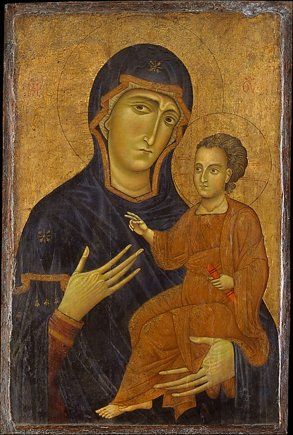 Madonna and Child, Berlinghiero (Italian, Lucca, active by 1228–died by 1236), Tempera on wood, gold ground