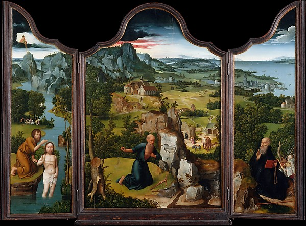 The Penitence of Saint Jerome, Joachim Patinir (Netherlandish, Dinant or Bouvignes, active by 1515–died 1524 Antwerp), Oil on wood