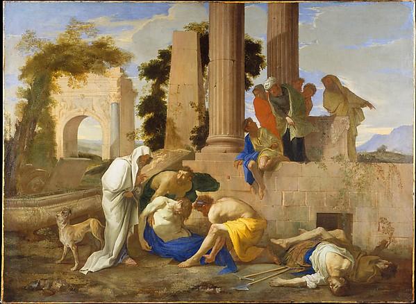 Tobit Burying the Dead, Andrea di Lione (Italian, Naples 1610–1685 Naples), Oil on canvas
