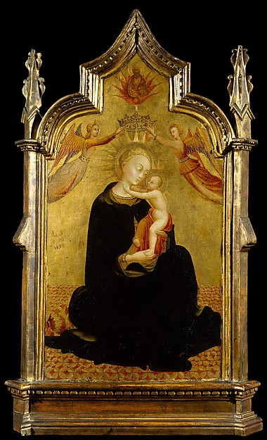 Madonna and Child with Angels, Sassetta (Stefano di Giovanni) (Italian, Siena or Cortona ca. 1400–1450 Siena), Tempera on wood, gold ground