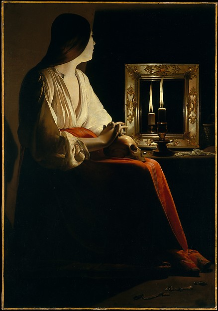 Magdalen With Smoking Flame