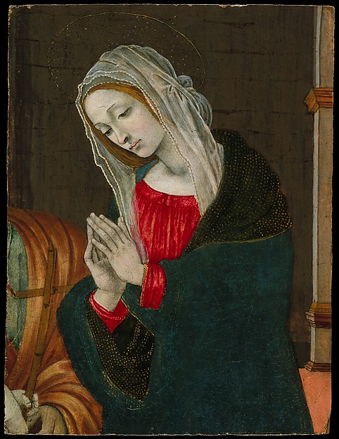 The Virgin of the Nativity, Workshop of Filippino Lippi (Italian, Prato ca. 1457–1504 Florence), Tempera and gold on wood