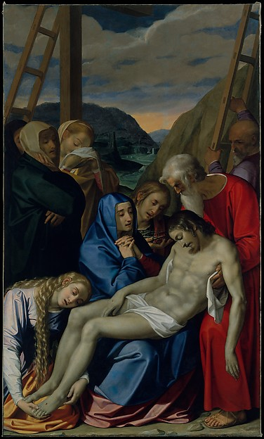 The Lamentation, Scipione Pulzone (Il Gaetano) (Italian, Gaeta, active by 1569–died 1598 Rome), Oil on canvas