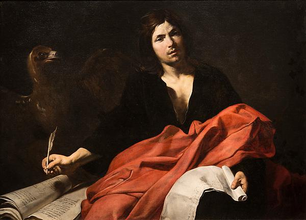 Saint John The Evangelist, Valentin De Boulogne (French, Coulommiers En Brie