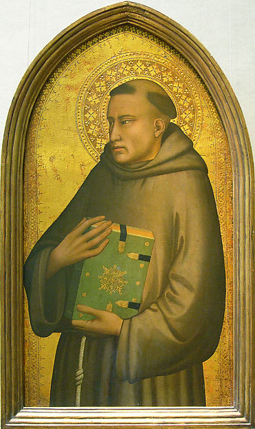 Saint Anthony of Padua, Maso di Banco (Italian, Florence, active 1320–46), Tempera on wood, gold ground