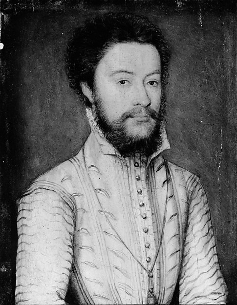 Portrait of a Bearded Man in White, Attributed to Corneille de Lyon (Netherlandish, The Hague, active by 1533–died 1575 Lyons), Oil on wood